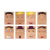 Emotionsbausteine / Emotionen erkennen + darstellen / 8 Bausteine auf allen Seiten bedruckt / Maße: 13,5 x 4,5 x 4,5 cm / für Kinder ab 1 Jahr