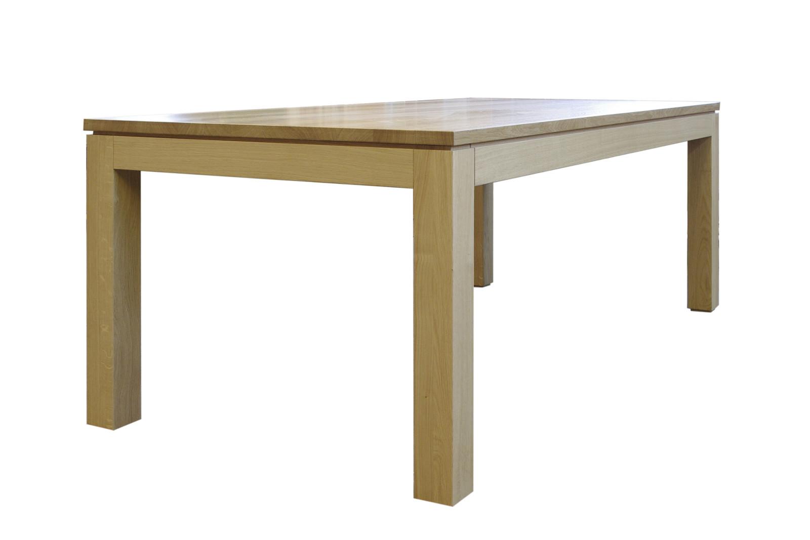 Esstisch / Tisch Platon, in Eiche, Asteiche, Buche, Kirschbaum, Kernbuche, Ahorn oder Nußbaum / Kopfauszug - Stollenauszug - Querauszug
