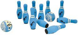Soft Bowling / Inhalt: 10 Kegel, 2 Kugeln + Tragetasche / Maße - Kegel: Ø 11 x 34 cm, Kugel: Ø 17,5 cm / Material: EVA / für Kinder ab 3 Jahre