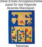 Acrylglas - Ersatzscheibe für das Akzente-Wandspiel Tetromax / Grösse: 82x49cm / Lieferung OHNE Wandspiel!