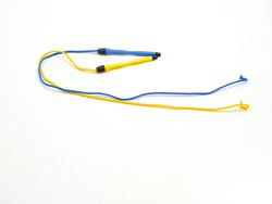 Magnetstifte klein / 2 Ersatzstifte / Farbe: blau + gelb / sind zur Befestigung an Wandspielen / Großspielen geeignet (sind NICHT im Lieferumfang enthalten)