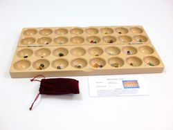 B-Ware / Holz  mit z.B. Ästen siehe Fotos + leichte Kratzer auf dem Spiel / JUMBO Halbedelsteinspiel / Buchenholz massiv (incl. Beutel mit 80 Halbedelsteinen) / Steinchenspiel z.B. für Senioren / 600x160x64 cm / Hergestellt in Deutschland