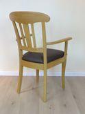 Schleswig  Armlehnen Stuhl Eiche -  Massivholzstuhl mit Sprossen im Rücken - viele Bezüge möglich - auch in Eiche gelaugt möglich