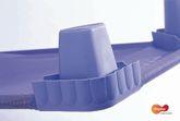 Liege 100 cm / Krippenliege platzsparend und robust / Maße: 100 x 54 cm / Farbe: blau / belastbar bis 50 kg / Die Lieferung beinhaltet eine Liege / Lieferung ohne Decke