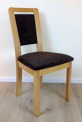 Stuhl  Lauenau 433  Massivholzstuhl Eiche oder Buche mit gepolstertem Sitz und Rücken - viele Bezüge möglich