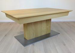 Couchtisch / Wohnzimmertisch / Sofatisch / modern / Modell: Couchtisch Moretta - Eiche, Buche oder Kirschbaum - Bodenplatte Stahl