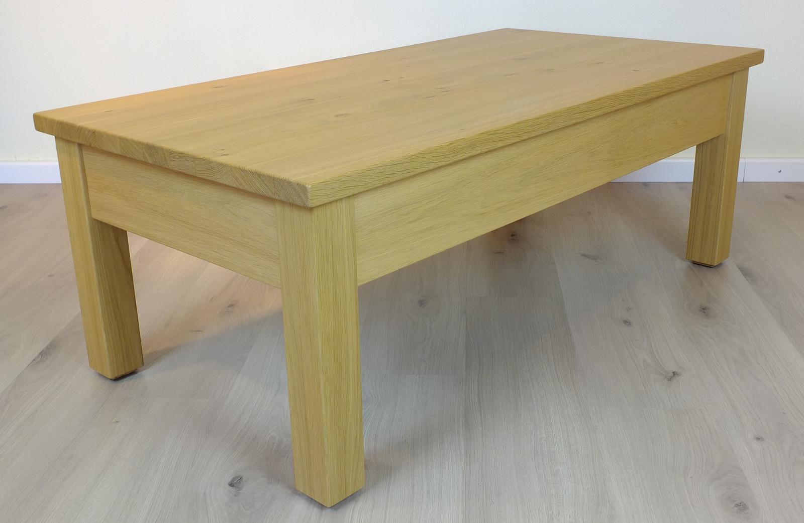 Couchtisch / Wohnzimmertisch / Sofatisch Plato 125 X 65 - Höhe 46 cm, - andere Maße möglich, Eiche, Asteiche, Buche, Kirsche vollmassiv