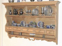 Tellerbord  Rosenburg  Eiche massiv mit Schubladen / Eiche gelaugt / rustikal  / 140 x 94 cm / Ausstellungsstück zum Sonderpreis 1.390,00 €