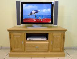 Norden TV Lowboard / Anrichte - Breite 130 cm Höhe 65 cm - mit Gerätenische und 1  Schubladen, moderner Landhausstil Eiche massiv , auch in Buche oder Kirschbaum möglich