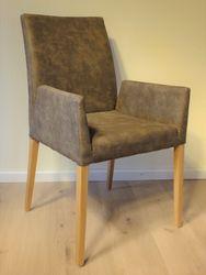 SLIM HD +A - Sessel - ein hochwertiger schlanker Vollpolstersessel mit Nosagfederung -  Eiche, Buche oder Nussbaum - Viele Bezüge aus Stoff und Leder sind möglich!
