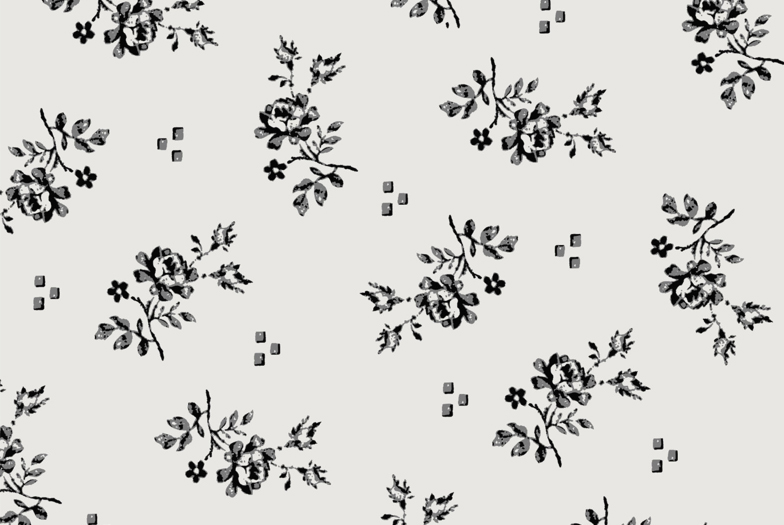 ADORABLE FLOWER PRINT IN CREAM AND BLACK VIVE MARIA PRESENTS NOSTALGIA
