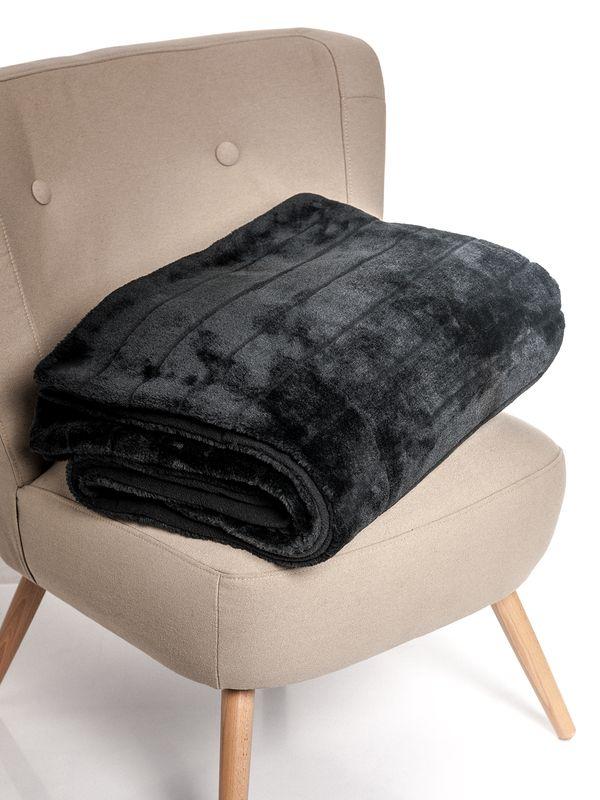 Vive Maria Fallen Angel mink imitation blanket black – Bild 7