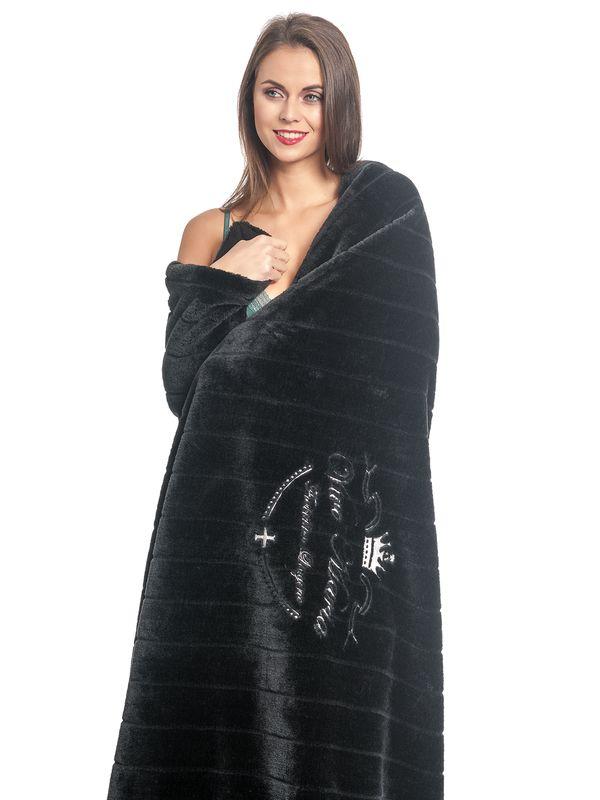 Vive Maria Fallen Angel mink imitation blanket black – Bild 5