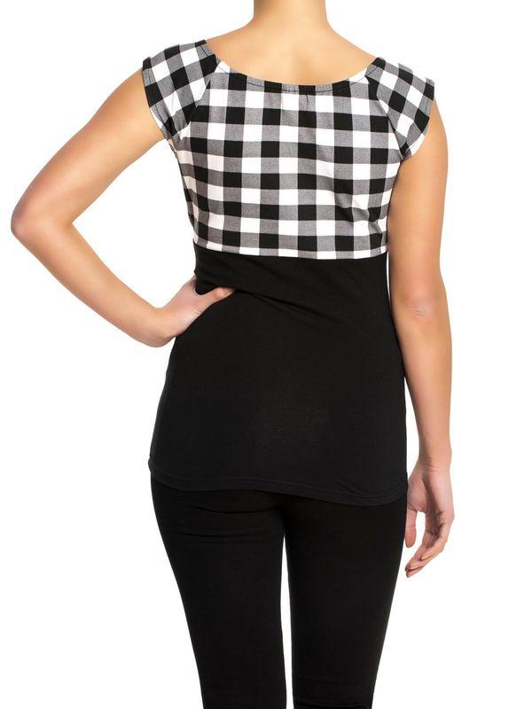 Pussy Deluxe Evie Shirt Plaid black/white – Bild 1