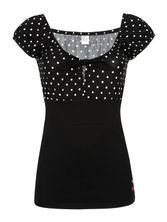 Pussy Deluxe Dolly Dotties Shirt black – Bild 3