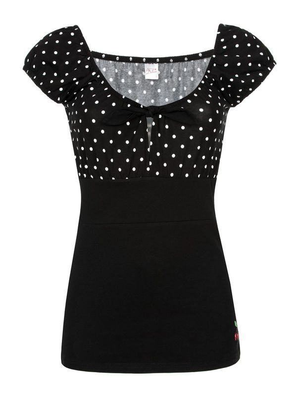 Pussy Deluxe Dolly Dotties Shirt black – Bild 0