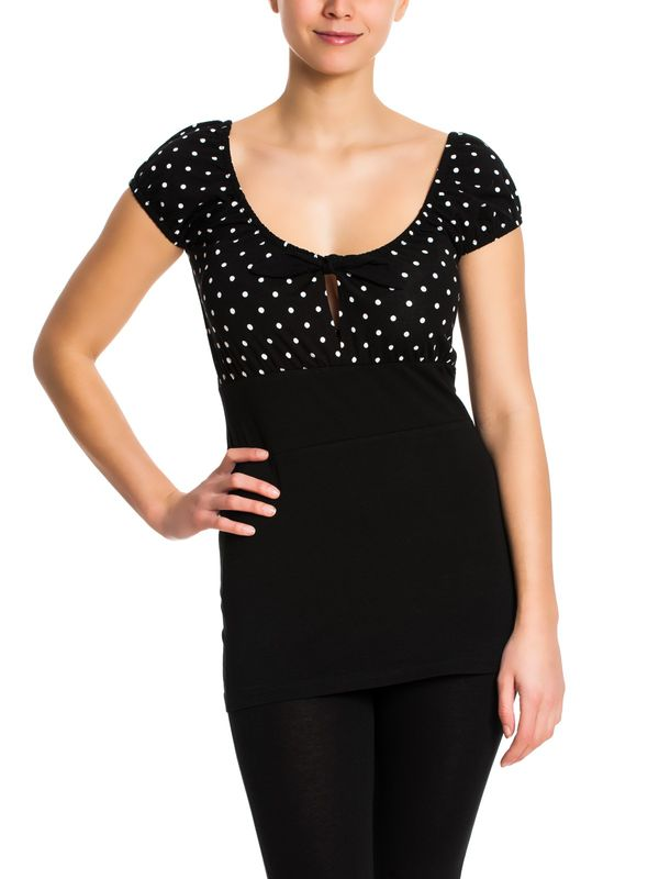 Pussy Deluxe Dolly Dotties Shirt black – Bild 2