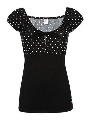 Pussy Deluxe Dolly Dotties Shirt black – Bild 0