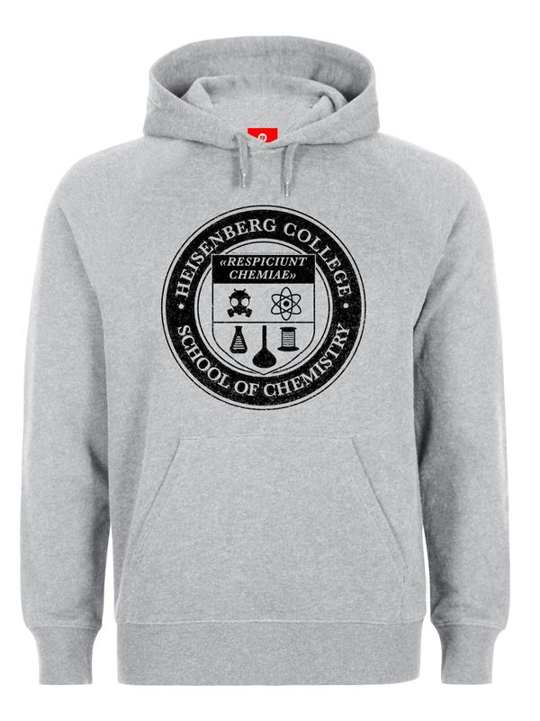 Breaking Bad Heisenberg College Hooded Sweater, Herren Kapuzenpullover Ansicht