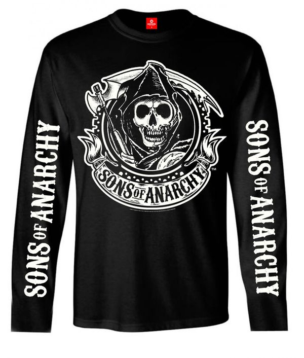 Sons of Anarchy SOA Reaper Logo Longsleeve male black