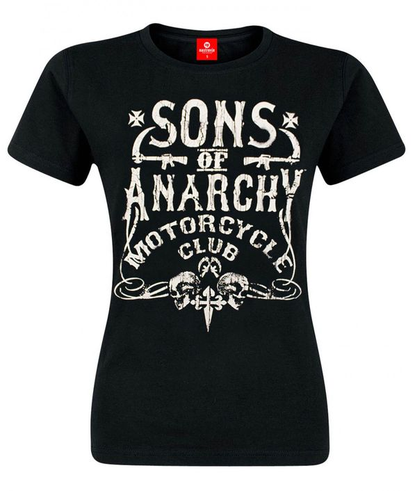Sons of Anarchy SOA Motorcycle Club Girlshirt black