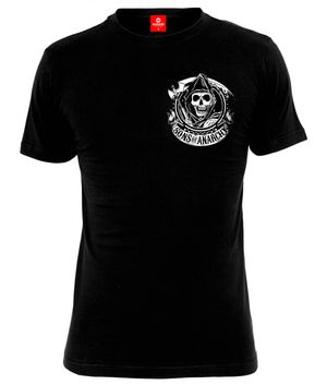 Sons of Anarchy SOA American Outlaw T-Shirt male black – Bild 0