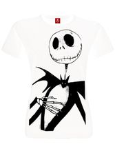 The Nightmare Before Christmas Jack ME Girl T-Shirt white