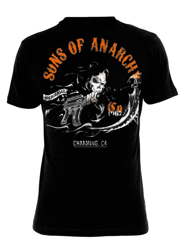 Sons of Anarchy SOA Charming Shirt black – Bild 1
