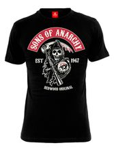 Sons of Anarchy SOA 1967 male Shirt black