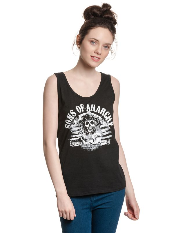 Sons of Anarchy SOA Charming California Tank Top female black view