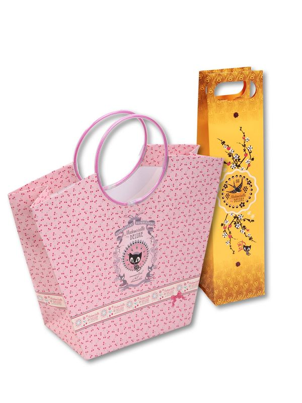 Pussy Deluxe  Gift bag set 2 pcs. bottle 10 x 10 x 40/ Trapez 20 x 12 x 27,5 – Bild 0