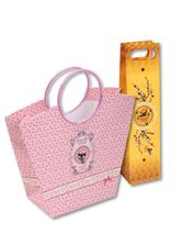 Pussy Deluxe  Gift bag set 2 pcs. bottle 10 x 10 x 40/ Trapez 20 x 12 x 27,5 – Bild 0