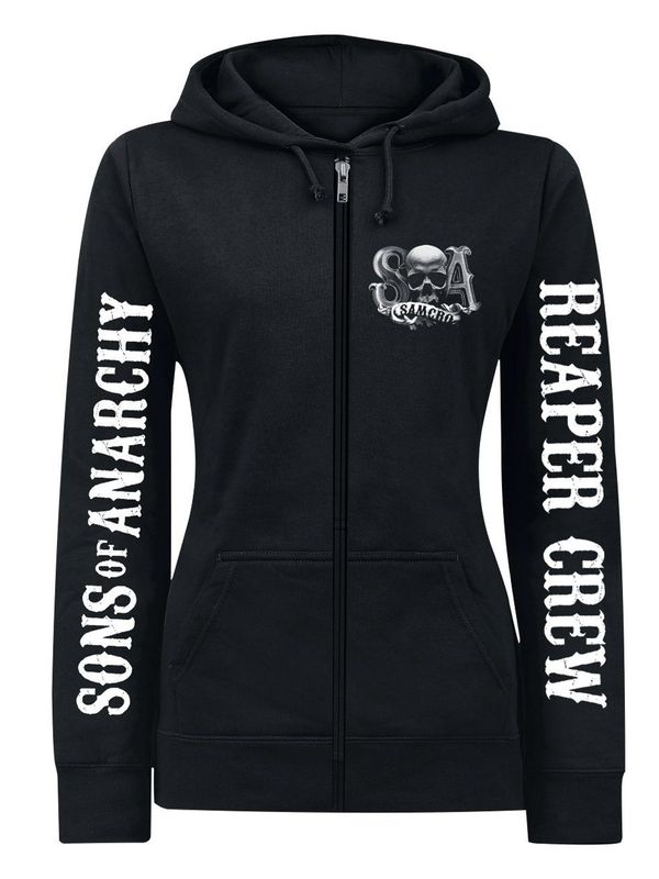Sons of Anarchy Reaper Crew Logo female Zip-Hoodie, Damen Kapuzenjacke Ansicht