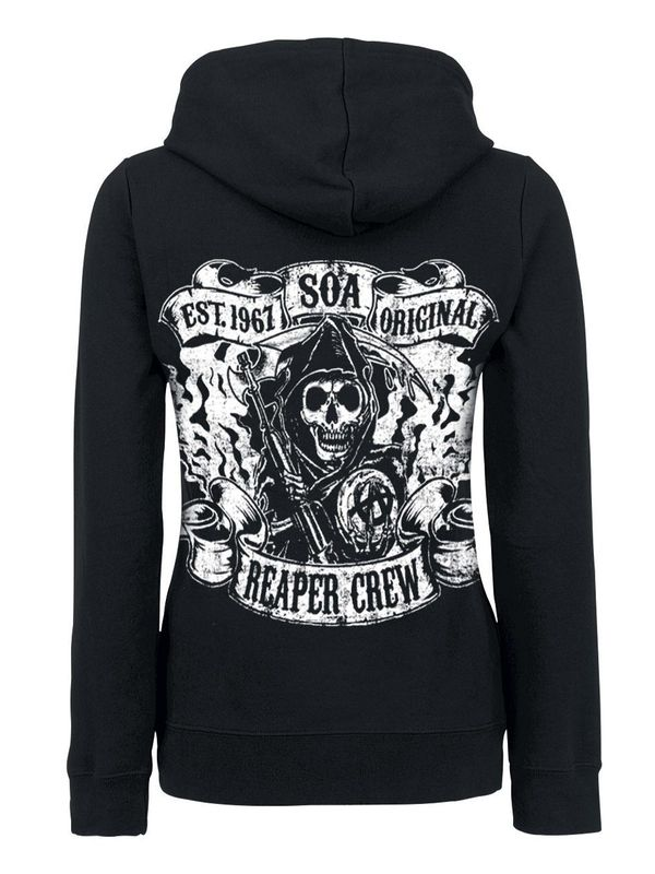 Sons of Anarchy Reaper Crew Logo female Zip-Hoodie, Damen Kapuzenjacke – Bild 1