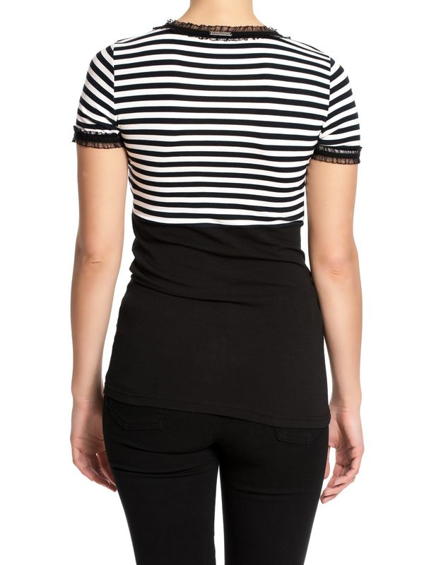 Pussy Deluxe Stripey black/white on black Shirt – Bild 1