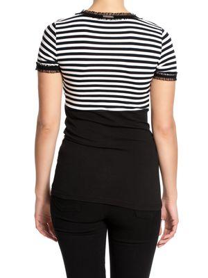Pussy Deluxe Stripey black/white on black Shirt – Bild 1