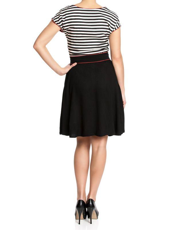 Pussy Deluxe Stripey Dress black/white – Bild 1