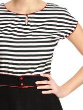 Pussy Deluxe Stripey Dress black/white – Bild 2