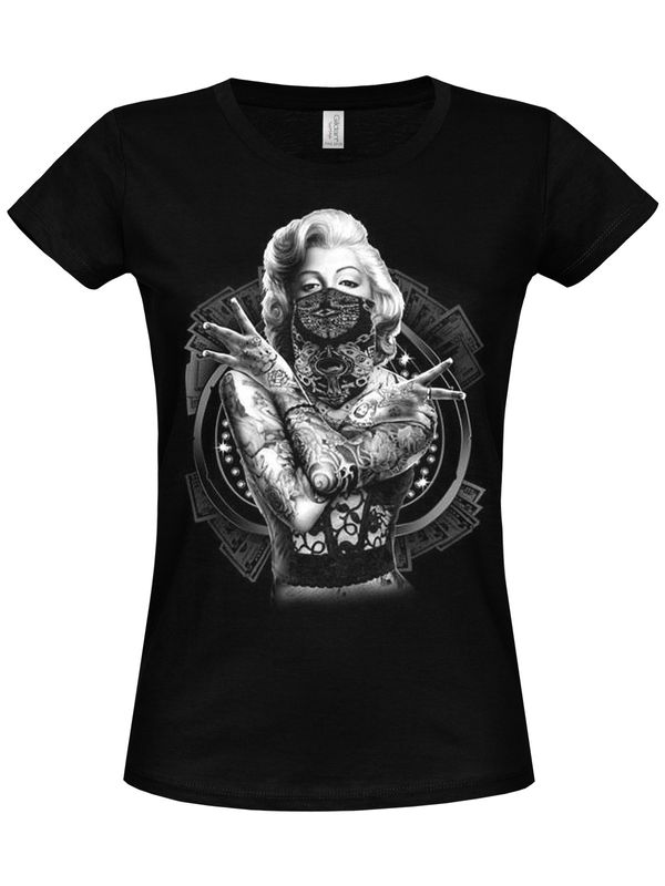 Marilyn Monroe Outlaw Girly T-Shirt black