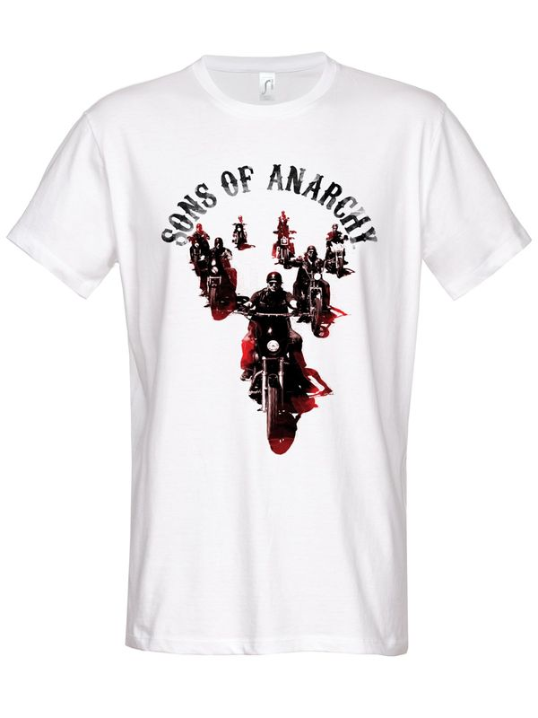 Hybris Sons of Anarchy Motorcycle Gang T-Shirt white