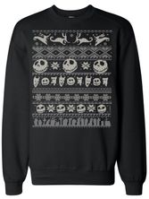 The Nightmare Before Christmas Damen Sweatshirt schwarz