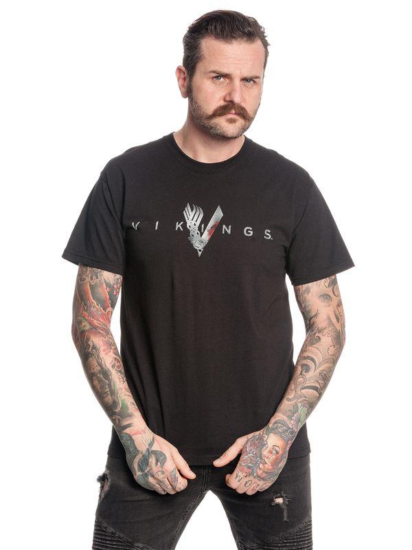Vikings Welcome Herren T-Shirt schwarz Ansicht
