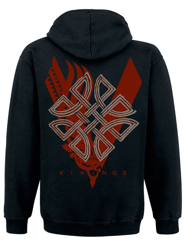 Vikings Icon male hooded Sweatshirt black – Bild 1