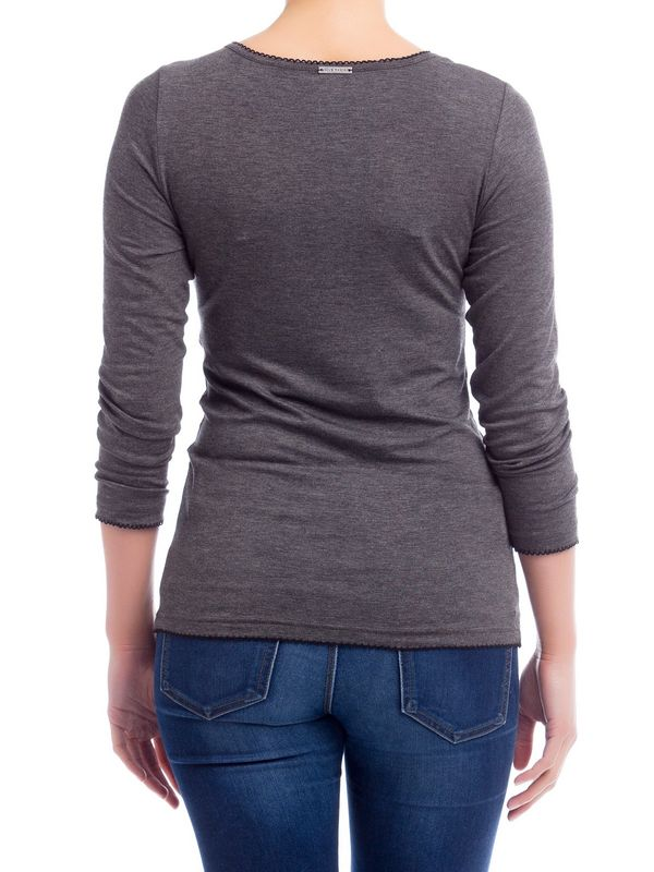 Vive Maria Give Me Your Love Classic 3/4 Longsleeve grey-melange – Bild 1