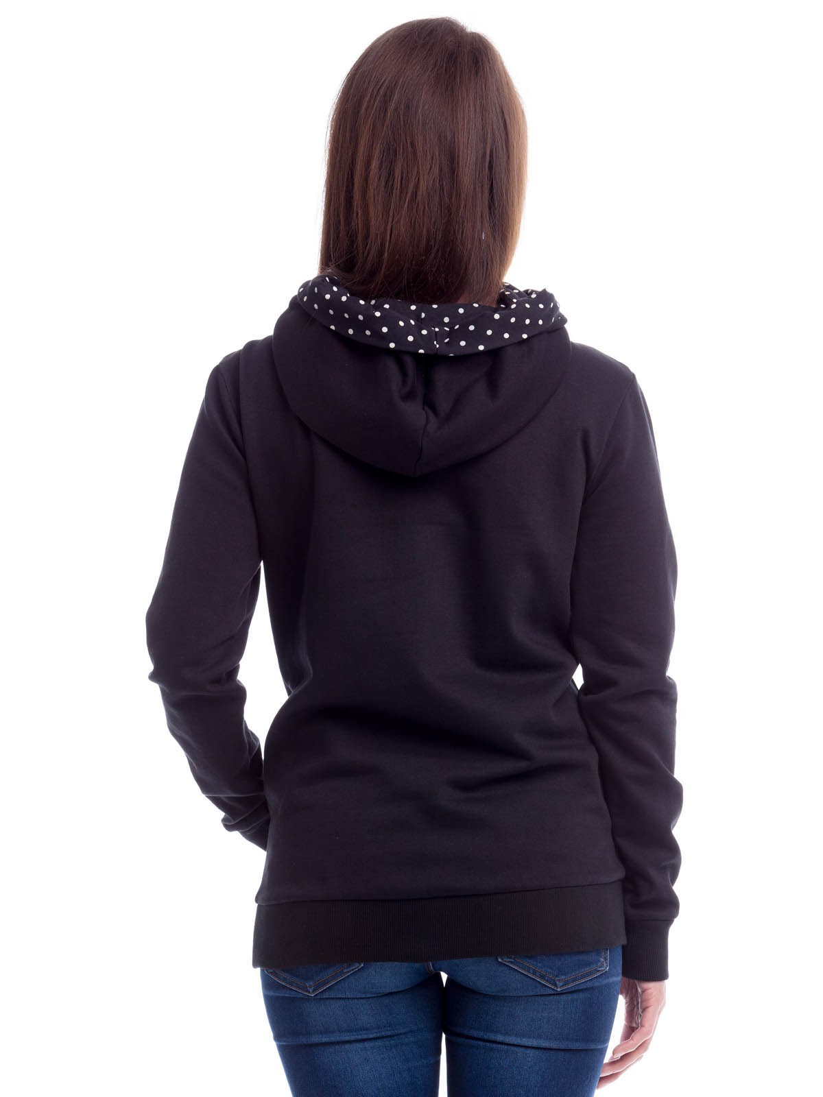 release date: b1db2 a759b Pussy Deluxe Cross Over Dotty Hoodie Kapuzenpullover schwarz