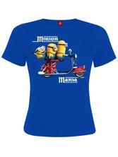 Minions Mania Girl Shirt royal blue
