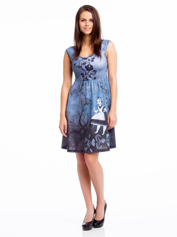 Alice In Wonderland Gothic Art Dress/Kleid schwarz – Bild 0