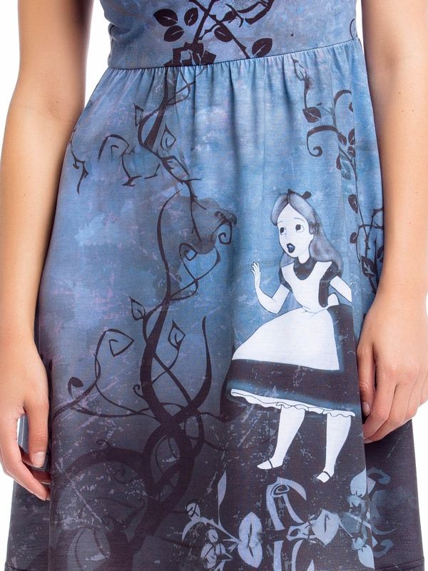 Alice in Wonderland Alice In Wonderland Gothic Art Dress black allover – Bild 2