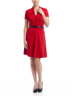 Pussy Deluxe Betty Dots Dress red – Bild 0