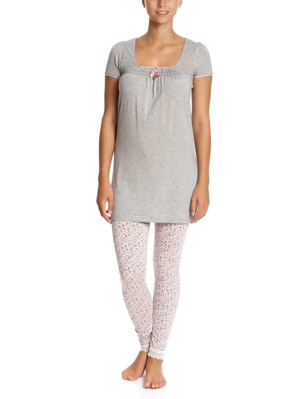 Vive Maria Flowers Greeting Pyjama grey-melange/allover – Bild 1
